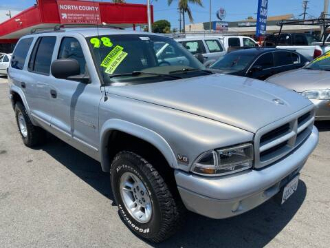 1998 Dodge Durango for sale at North County Auto in Oceanside CA