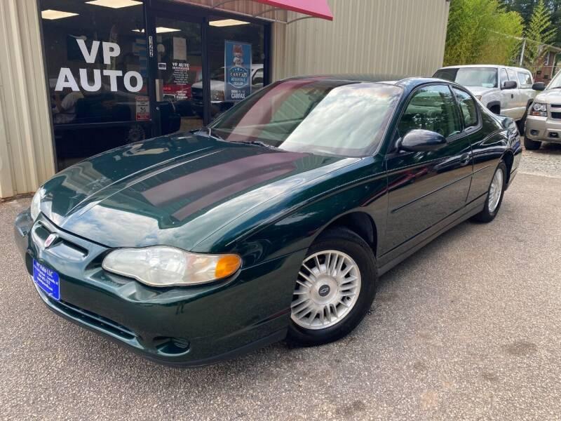 2002 Chevrolet Monte Carlo for sale at VP Auto in Greenville SC
