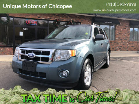2012 Ford Escape for sale at Unique Motors of Chicopee in Chicopee MA