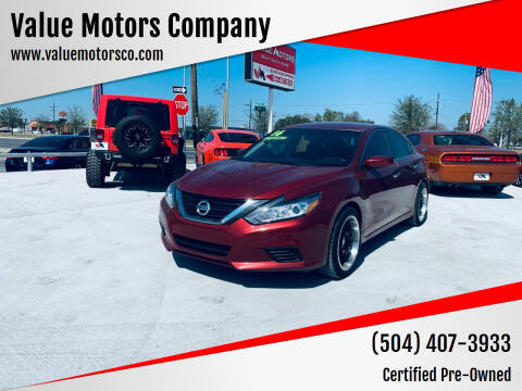 2016 Nissan Altima for sale at Value Motors Company in Marrero LA
