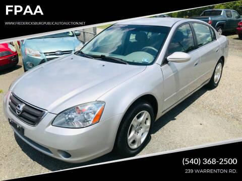 2002 Nissan Altima for sale at FPAA in Fredericksburg VA
