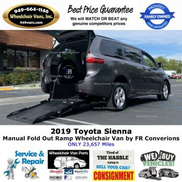 2019 Toyota Sienna for sale at Wheelchair Vans Inc - New and Used in Laguna Hills CA
