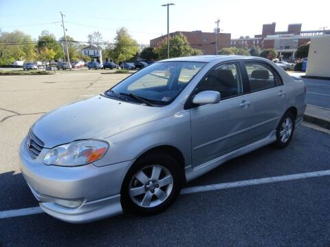 2003 Toyota Corolla for sale at TJ Auto Sales LLC in Fredericksburg VA