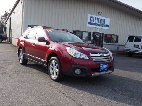 2013 Subaru Outback for sale at Crestwood Auto Sales in Swansea MA