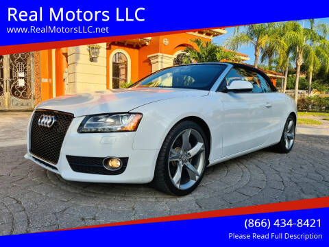 2012 Audi A5 for sale at Real Motors LLC in Clearwater FL