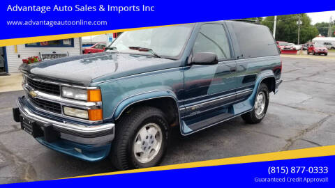 1994 Chevrolet Blazer for sale at Advantage Auto Sales & Imports Inc in Loves Park IL