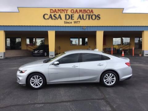 2017 Chevrolet Malibu for sale at CASA DE AUTOS, INC in Las Cruces NM