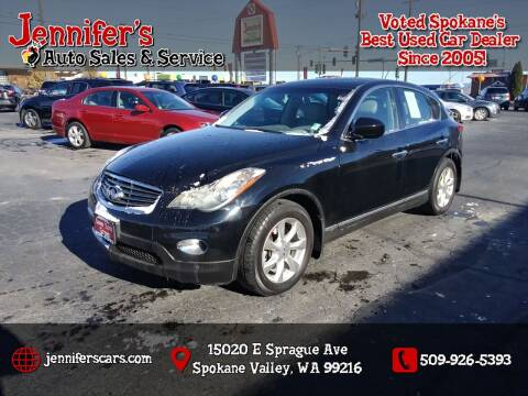 2010 Infiniti EX35 for sale at Jennifer's Auto Sales in Spokane Valley WA