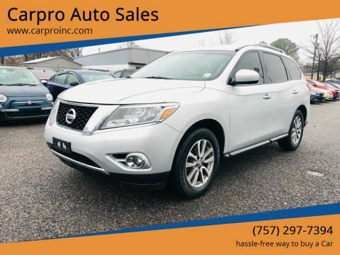 2015 Nissan Pathfinder for sale at Carpro Auto Sales in Chesapeake VA