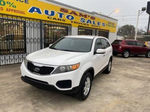 2011 Kia Sorento for sale at Sam's Auto Sales in Houston TX