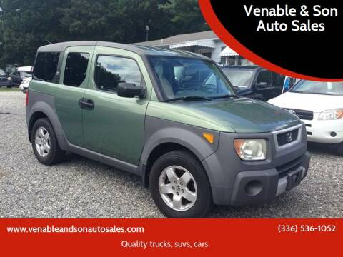 2004 Honda Element for sale at Venable & Son Auto Sales in Walnut Cove NC