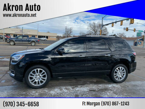 2016 GMC Acadia for sale at Akron Auto - Fort Morgan in Fort Morgan CO