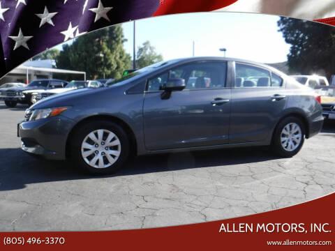 2012 Honda Civic for sale at Allen Motors, Inc. in Thousand Oaks CA