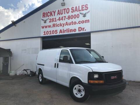 2012 GMC Savana Cargo for sale at Ricky Auto Sales in Houston TX