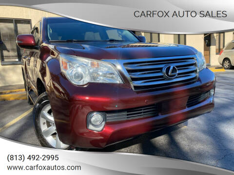 2012 Lexus GX 460 for sale at Carfox Auto Sales in Tampa FL