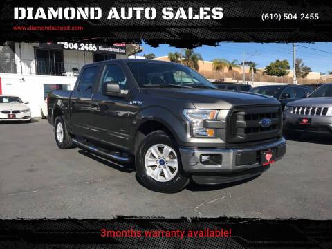 2015 Ford F-150 for sale at DIAMOND AUTO SALES in El Cajon CA