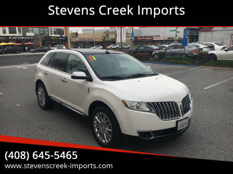2011 Lincoln MKX for sale at Stevens Creek Imports in San Jose CA