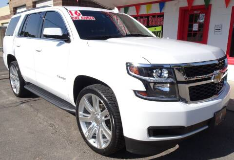 2016 Chevrolet Tahoe for sale at VISTA AUTO SALES in Longmont CO