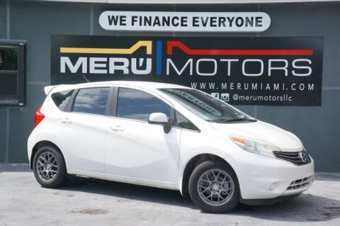 2014 Nissan Versa Note for sale at Meru Motors in Hollywood FL
