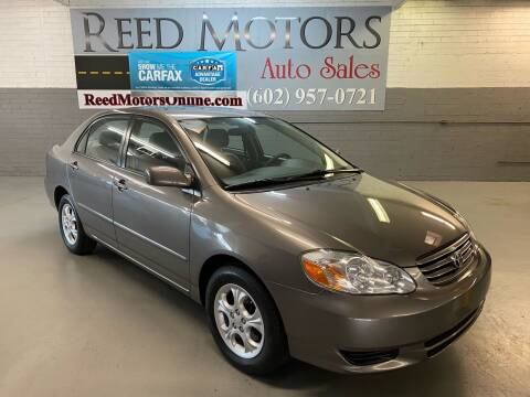 2004 Toyota Corolla for sale at REED MOTORS LLC in Phoenix AZ