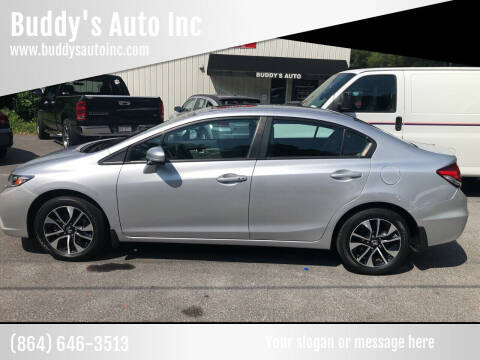 2015 Honda Civic for sale at Buddy's Auto Inc in Pendleton SC