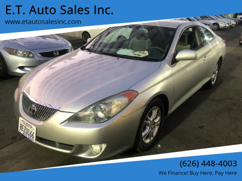 2006 Toyota Camry Solara for sale at E.T. Auto Sales Inc. in El Monte CA