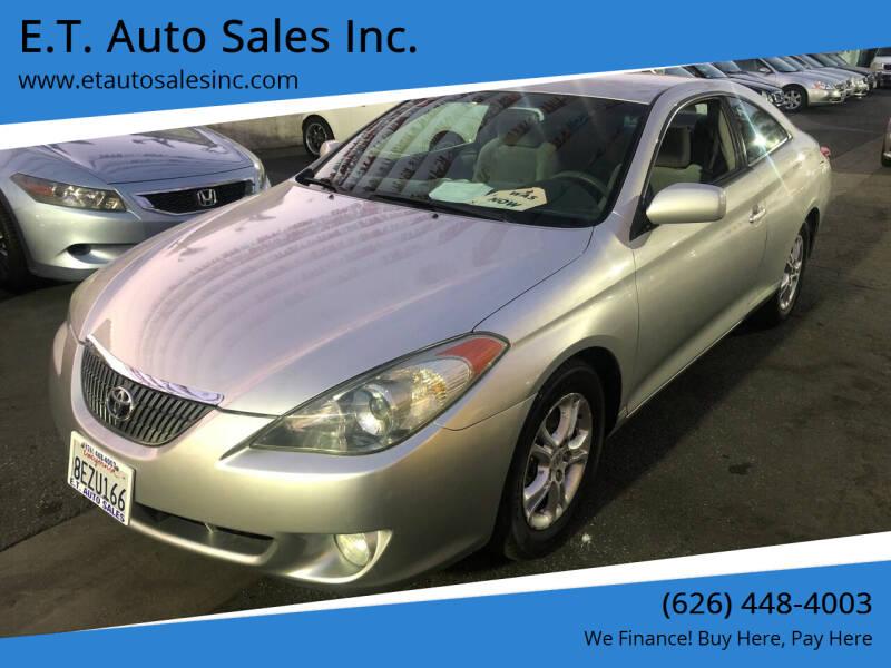 2006 Toyota Camry Solara for sale at E.T. Auto Sales Inc. in El Monte CA