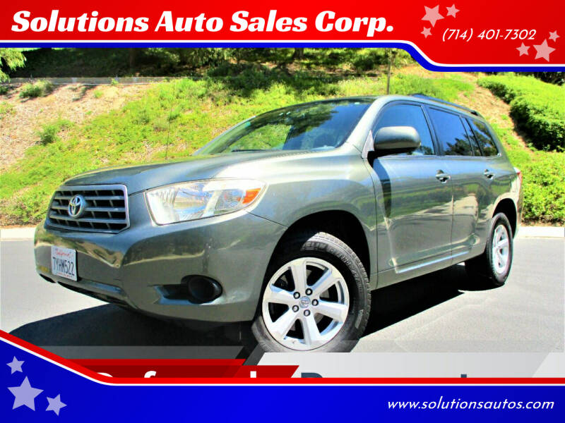 2009 Toyota Highlander for sale at Solutions Auto Sales Corp. in Orange CA