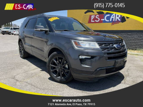 2019 Ford Explorer for sale at Escar Auto - 9809 Montana Ave Lot in El Paso TX