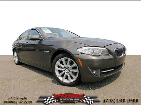 2013 BMW 5 Series for sale at PRIME MOTORS LLC in Arlington VA