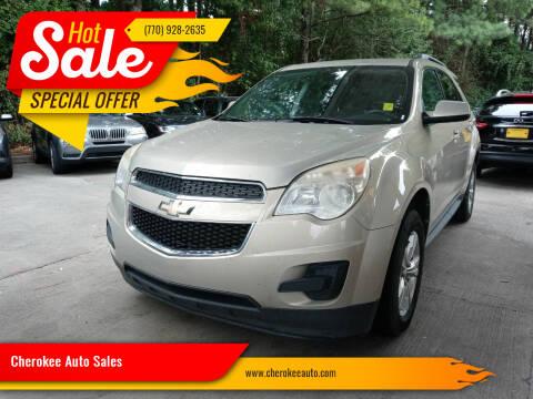 2012 Chevrolet Equinox for sale at Cherokee Auto Sales in Acworth GA