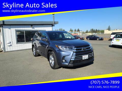 2017 Toyota Highlander for sale at Skyline Auto Sales in Santa Rosa CA