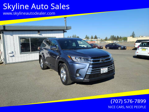 2017 Toyota Highlander for sale at Skyline Auto Sales in Santa Rosa CA