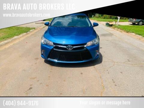 2016 Toyota Camry for sale at BRAVA AUTO BROKERS LLC in Clarkston GA