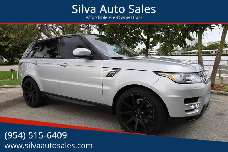 2016 Land Rover Range Rover Sport for sale at Silva Auto Sales in Pompano Beach FL