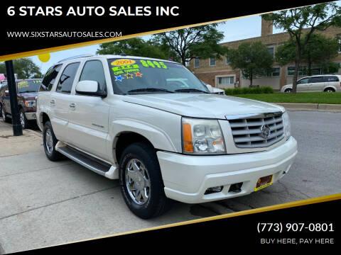 2004 Cadillac Escalade for sale at 6 STARS AUTO SALES INC in Chicago IL