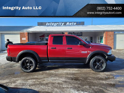 2013 RAM Ram Pickup 1500 for sale at Integrity Auto LLC - Integrity Auto 2.0 in St. Albans VT