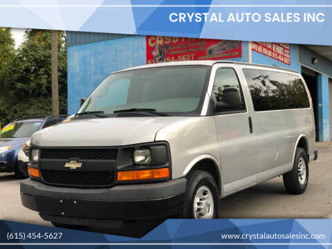 2012 Chevrolet Express Passenger for sale at Crystal Auto Sales Inc in Nashville TN