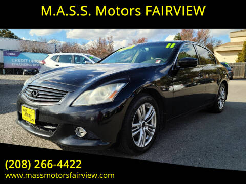 2011 Infiniti G37 Sedan for sale at M.A.S.S. Motors - Fairview in Boise ID