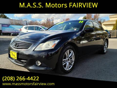 2011 Infiniti G37 Sedan for sale at M.A.S.S. Motors - Fairview in Boise ID