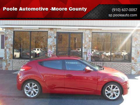2016 Hyundai Veloster for sale at Poole Automotive in Laurinburg NC