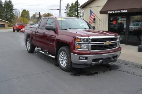 2014 Chevrolet Silverado 1500 for sale at Nick's Motor Sales LLC in Kalkaska MI