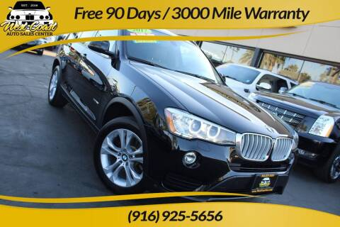 2017 BMW X3 for sale at West Coast Auto Sales Center in Sacramento CA