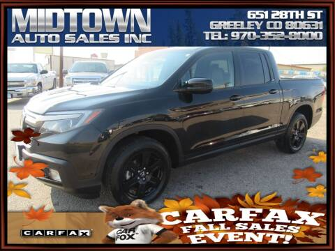 2019 Honda Ridgeline for sale at MIDTOWN AUTO SALES INC in Greeley CO