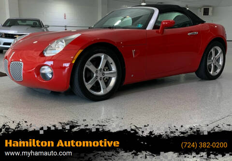 2006 Pontiac Solstice for sale at Hamilton Automotive in North Huntingdon PA