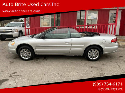 2005 Chrysler Sebring for sale at Auto Brite Used Cars Inc in Saginaw MI