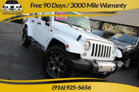 2018 Jeep Wrangler JK Unlimited for sale at West Coast Auto Sales Center in Sacramento CA