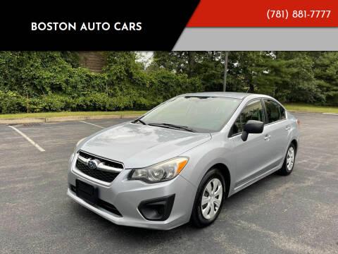 2013 Subaru Impreza for sale at Boston Auto Cars in Dedham MA