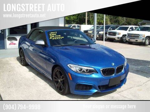 2017 BMW 2 Series for sale at LONGSTREET AUTO in Saint Augustine FL