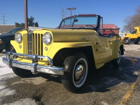 1949 Willys Jeepster for sale at Haggle Me Classics in Hobart IN